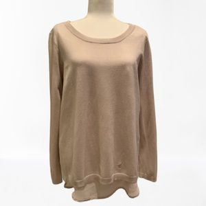 CHELSEA&THEODORE | NWT PALE OPEN BACK SWEATER | L